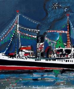Benjamí Tous · Barco azul de Navidad