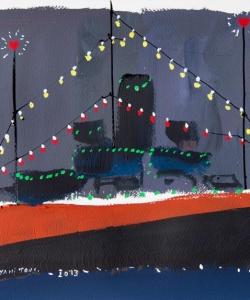 Benjamí Tous · Barco azul  y rojo