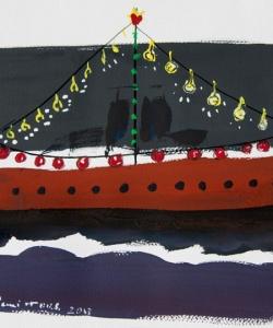 Benjami Tous · Barco azul  y rojo